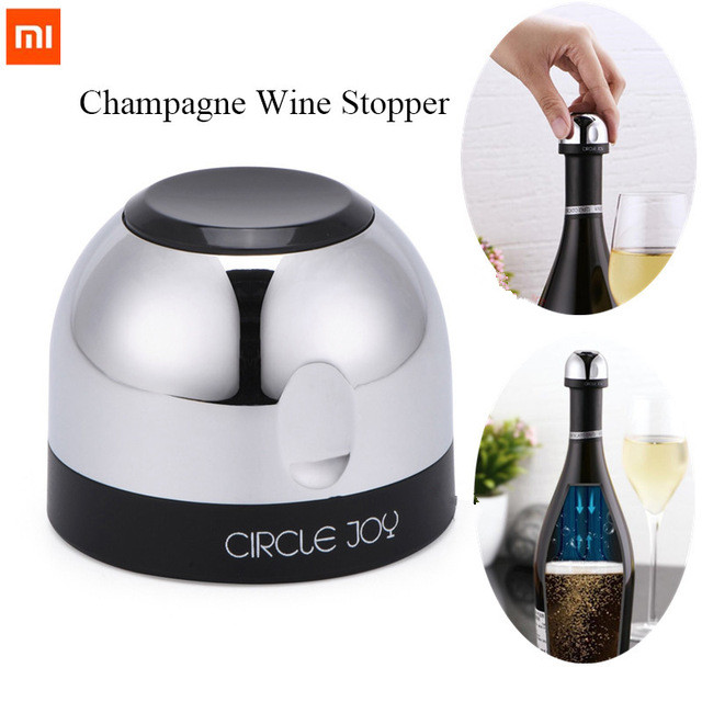 Xiaomi Mijia Circle Joy Sparkling Wine Mini Champagne Stopper Mini Wine Stopper Rotary Lock DesignVacuum Efficient Preservation