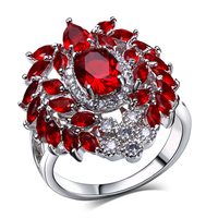 Lan Palace Boutique Engagement Ring For Women AAA Cubic Zirconia Wedding Jewelry Gold Plated Natural Stone