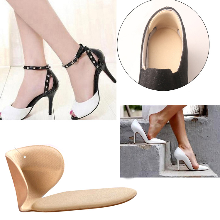1Pair Soft Heel Cushions Inserts For Shoes Women Soft Insole Foot Heel Pad Soft Pad Shoe Sticker Feet Massager#137