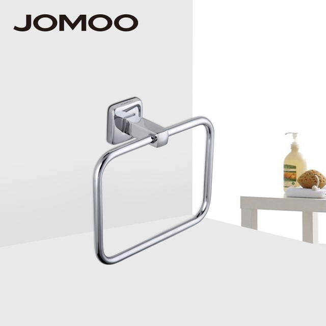 Jomoo Wall Mounted Towel Bar Br Chrome Square Shape Rack Holder Bathroom Accessories Ring