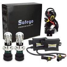 Safego H4-3 bi xenon H4 спрятал биксенон комплект H4 HID комплект Hi Lo 12 В DC 55 Вт 6000 К 8000 К 4300 К 5000 К BI-XENON H4 лампы