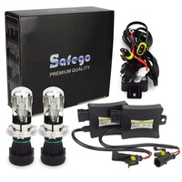 Safego H4 3 Bi xenon H4 HID Bixenon kit H4 hid kit hi lo 12V DC 55W 6000K 8000K 4300K 5000K BI XENON H4 headlight bulbs