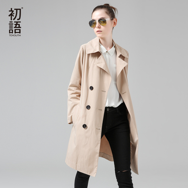 Aliexpress.com : Buy Toyouth Trench Coat 2017 Spring Women Coats ...