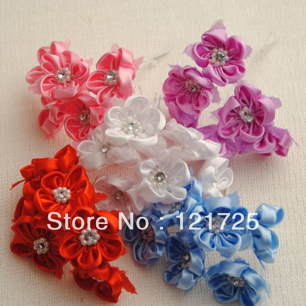 Small flowers for crafts - Satin Flowers Home Decoration Crafts Scrapbooking Decor 5 Colors Mini Artificial Flowers Diy Small Wedding Bouquet