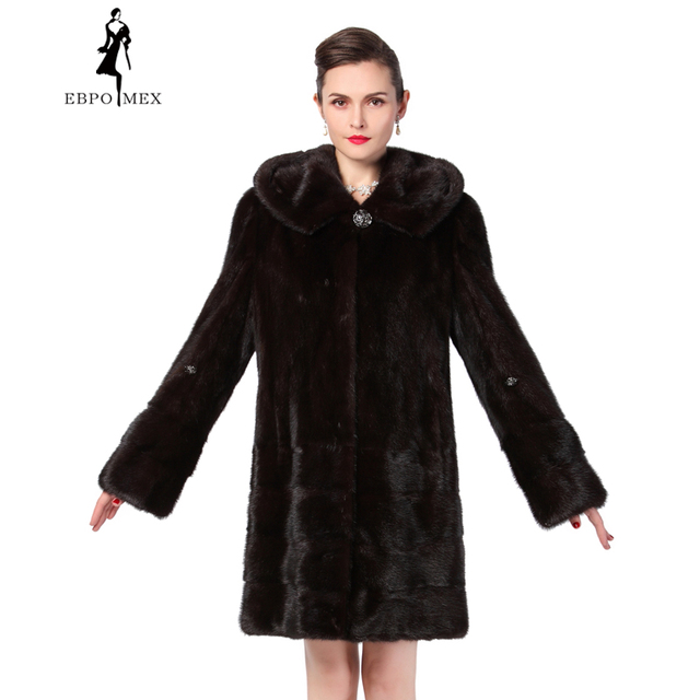 df01a837a803 Stylish black leather mink coats,Covered Button,Full,Slim,Mink coats women  leather,Mink coat,Mink fur coat