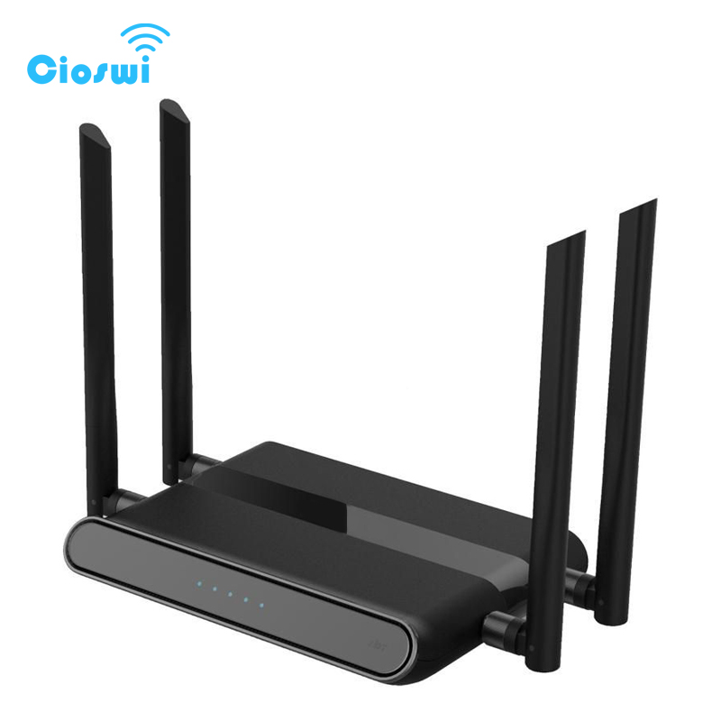 Cioswi WE5926 3G 4G Router With Sim Card Slot Wifi Router 300 Mbps 2.4Ghz Wifi Repeater openWRT Router 4*5dBi detachable Antenna kuwfi 3g 4g sim card slot wifi router openwrt 300mbps high power wireless router repeater with 4 5dbi antenna