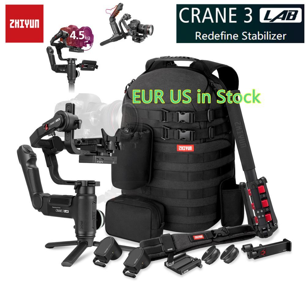 Zhiyun кран 3 лабораторный кран 2 Обновление версии 3-осевой карданный стабилизатор для DSLR камер, 1080 P Full HD Беспроводная передача изображения