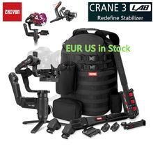 Zhiyun Crane 3 grue de laboratoire 2 Version de mise à niveau stabilisateur de cardan 3 axes pour appareils photo reflex numériques, Transmission d'image sans fil Full HD 1080 P
