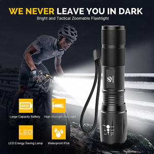 Image 2 - Super bright LED Flashlight With COB Side Light 4 Lighting modes Waterproof LED Torch For camping, adventure,Night Riding
