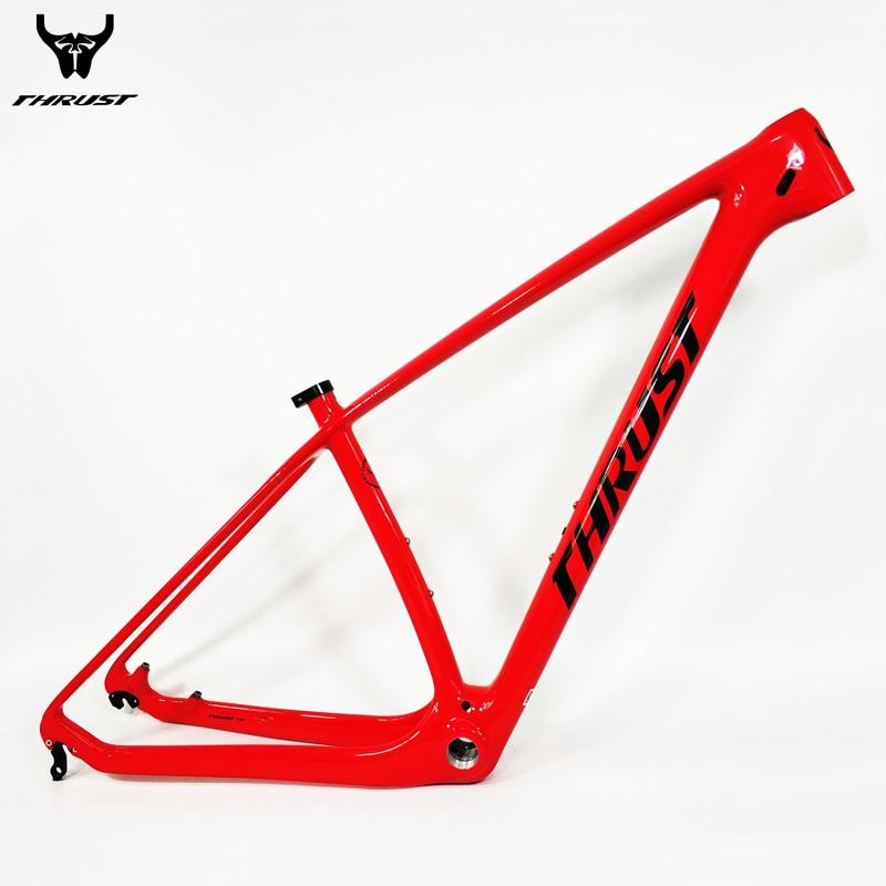 THRUST Carbon mtb Frame 29er 15 17 19 inch BSA BB30 Thru Axle Bike Bicycle Carbon Frame 27.5er Carbon mtb Frame