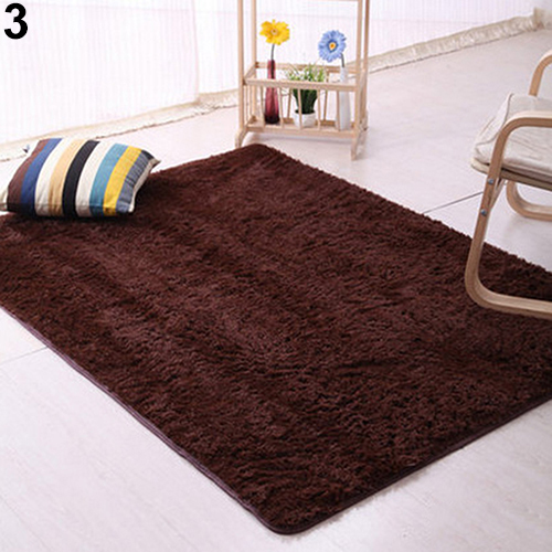 Plush Rug Floor: Plush Shaggy Soft Carpet Room Area Rug Bedroom Slip