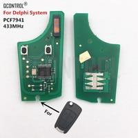 QCONTROL Car Control Remote Key Electronic Circuit Board for Opel/Vauxhall Corsa D 2007-2012  Meriva B 2010-2013