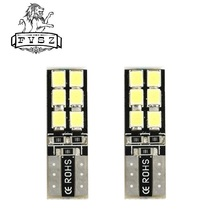 2Pcs t10 Car LED light bulb W5W 194 3W SMD 6000K From Canbus 3528 Light-Emitting Diodes Independent Bulb 12 Led Light-Emitting