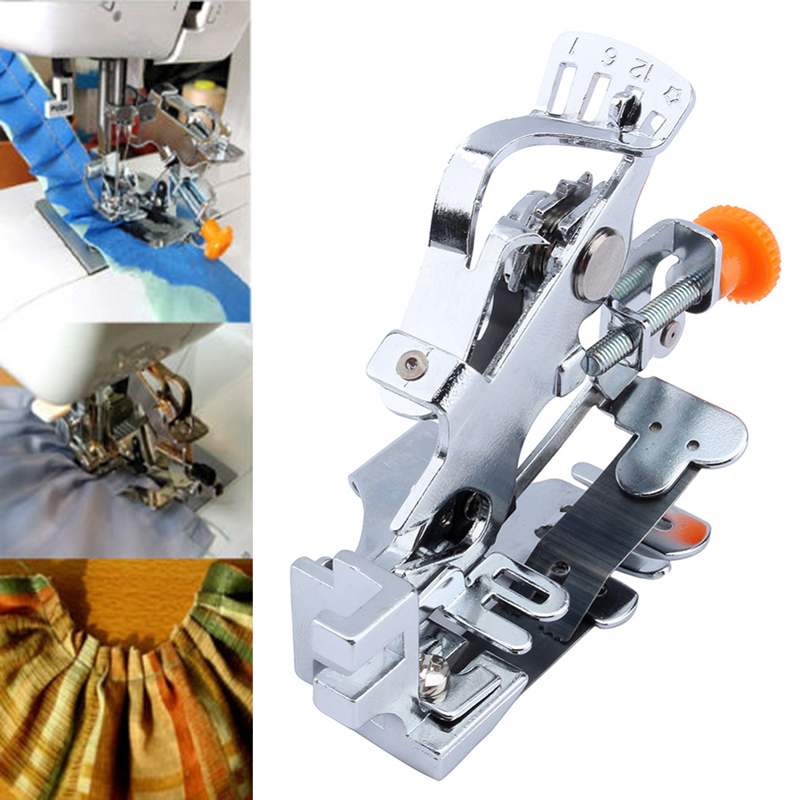 Household Pleated Presser Foot Free Adjustment Of The Presser Footage Low Foot Fold Sewing Machine Accessories DJ0477 EZLIFE
