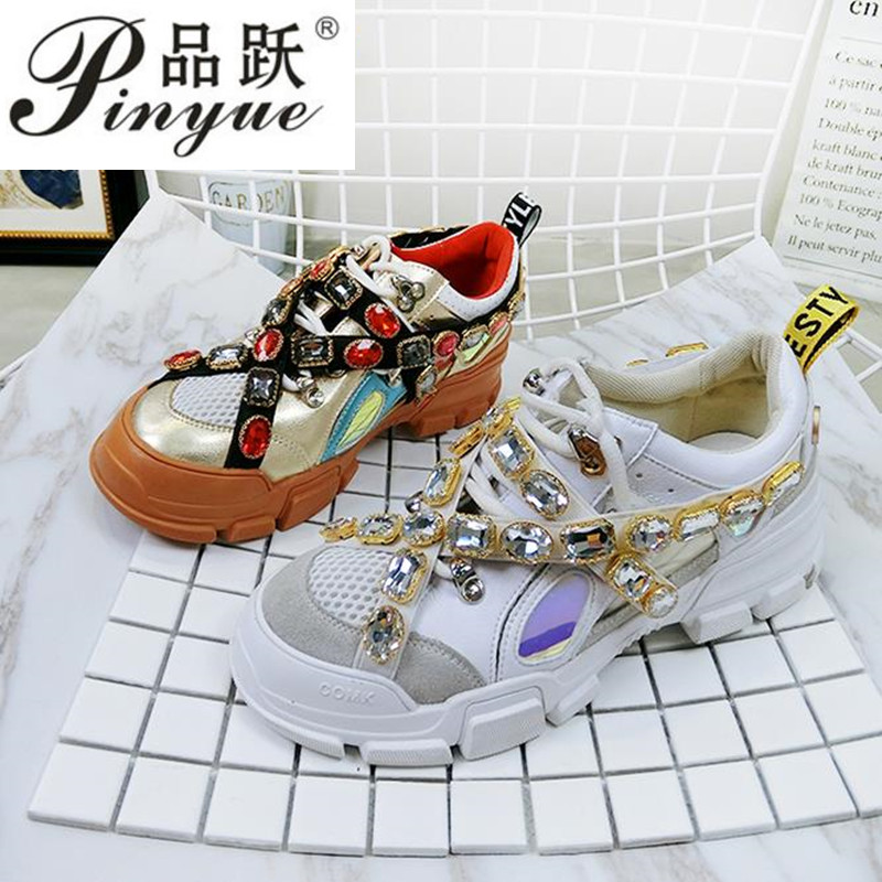 trainers rhinestone sneakers women platform thick sole muffin flats diamond elevator creepers shoes high quality mesh crystaltrainers rhinestone sneakers women platform thick sole muffin flats diamond elevator creepers shoes high quality mesh crystal
