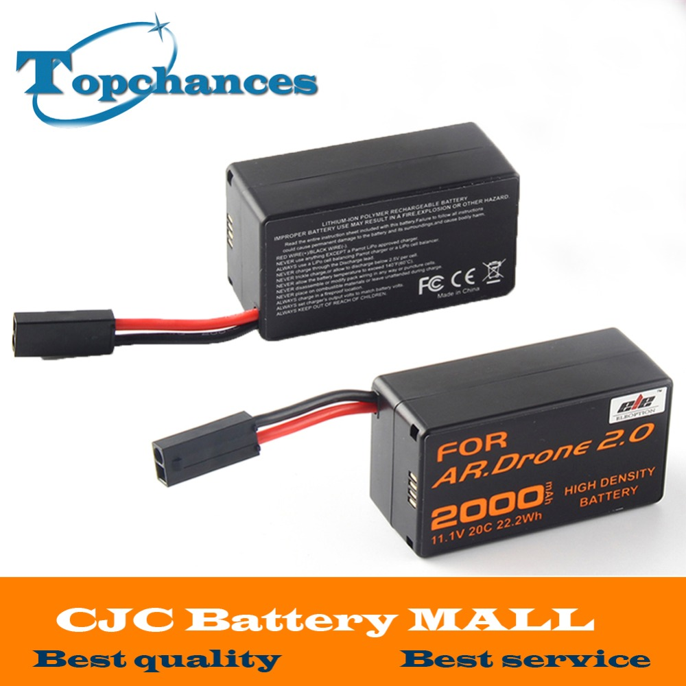 2X High Capacity 2000mAh 11 1V 20C 22 2Wh Powerful Li Polymer Battery For Parrot AR