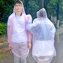 12PCS/SET Fashional Adult One-Time transparent raincoat Emergency Waterproof  Disposable Raincoat Poncho Camping Easy to carry