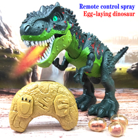 Remote control dinosaur spray laying eggs Tyrannosaurus Rex Dinosaur Model Toys Animal Action Figure Toy For Kids Gifts