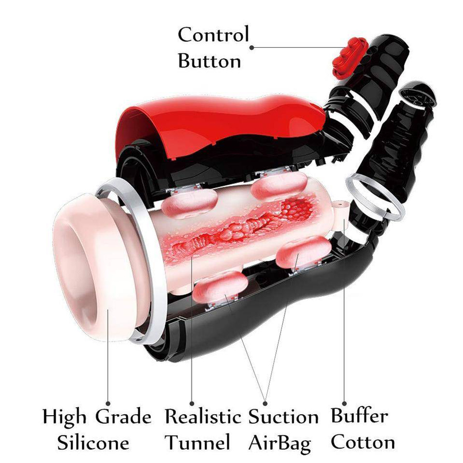 Oral Sucks Male Masturbator Deep Throat Clip Suction Sex Machine Induced Vibration Sex Moan Intimate Goods Sex Toys for Men