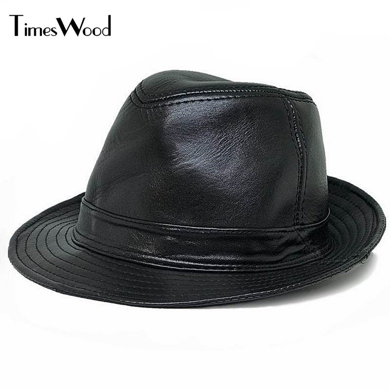 Genuine Leather Fedoras Caps Jazz Hat Mens Fashion For Formal Performance Cool Gentleman Casual Top Hats