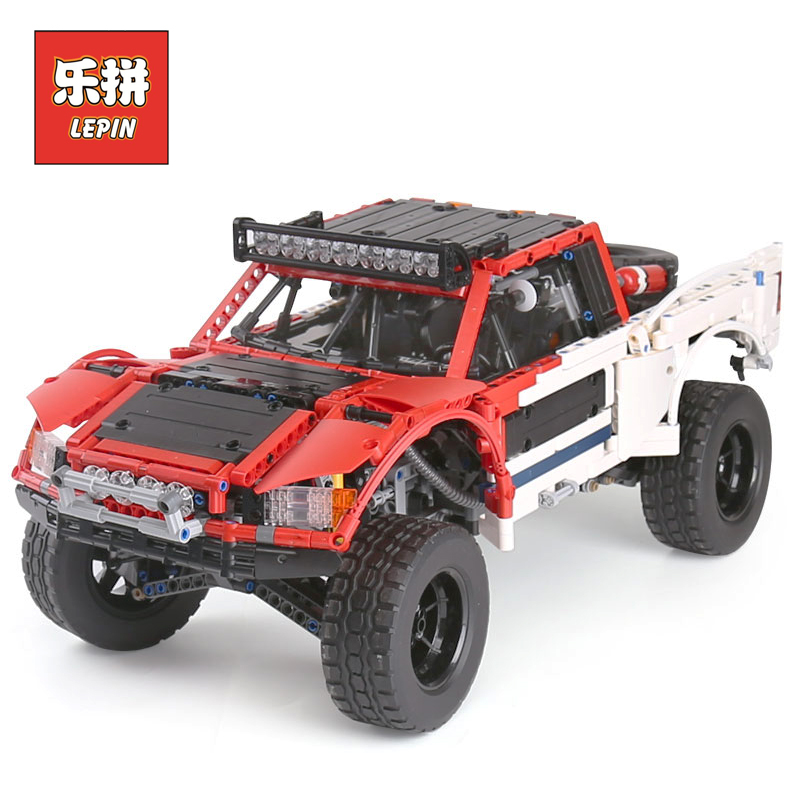 Lepin 23013 RC Truck New Technic Big Blocks the Remote Control Off-road Vehicles Car Set Model Building Bricks Children Toy Gift lepin 23013 genuine technic series the remote control off road car set 2314pcs building kits blocks bricks legoing gifts