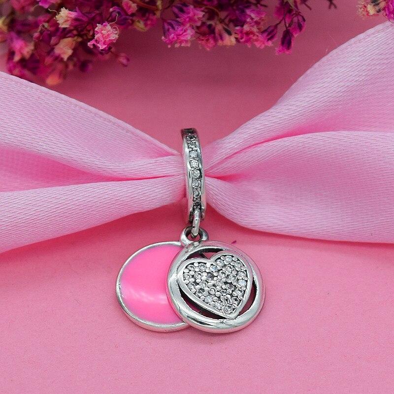 YANXIZAO 925 Zilver Hoge hakken Hartvorm Liefde Fit Pandora Armband - Mode-sieraden - Foto 2