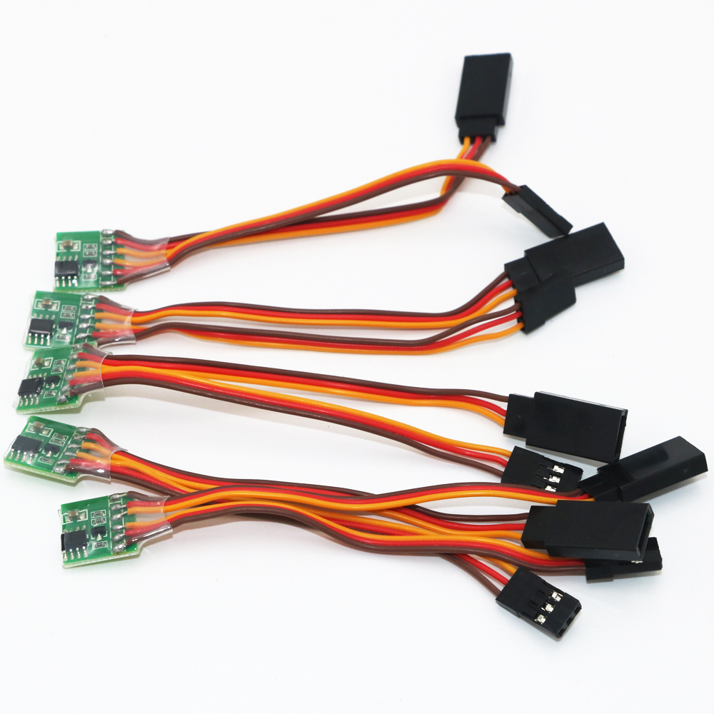 10pcs/lot Universal 5~6V Servo Signal Reverser For Rc Servo For JR Futaba Aeroplane V-Tail