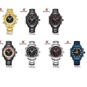 Image 5 - NAVIFORCE relojes deportivos militares para hombre, Digital, analógico, LED, de cuarzo inoxidable, Masculino, 9093