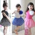 Vestido de niña de verano 2016 vestido del bebé para las niñas ropa 100% algodón de la princesa vestido de ropa de los cabritos del vestido del partido infanti