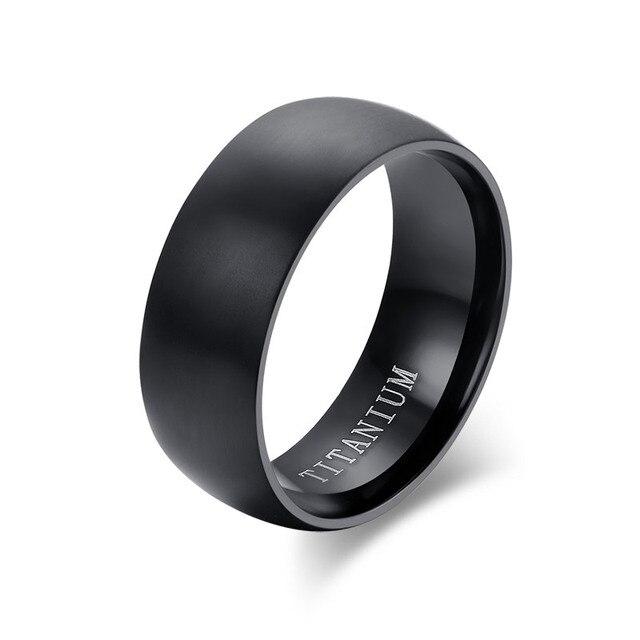 LETAPI 2020 Neue Titan Ringe Für Männer 8mm Kühlen Schwarz Männlichen Ring Hochzeit Engagement Schmuck|Ringe|   -