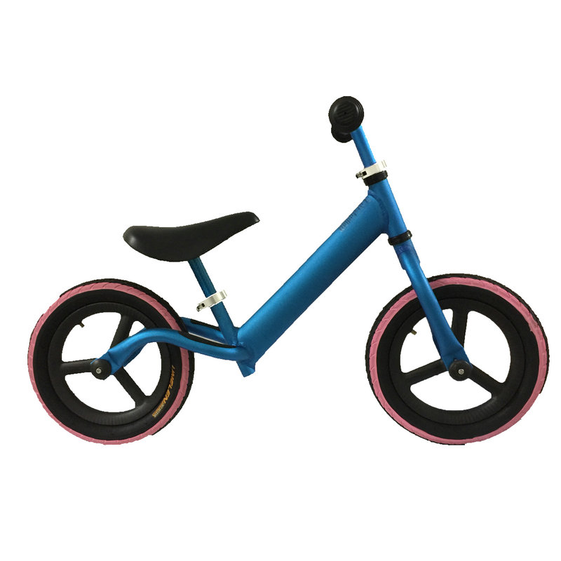 New Aluminum Alloy 12 Inch Balance Bike Pushbike Carbon Wheel Red Blue Silvery Kid Bicycle High Quality Ceramic Bearing Hub In From Sports