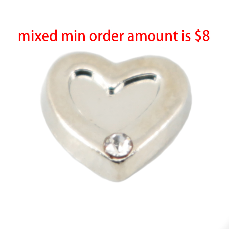 10pcs heart love floating lockets charm,Fit floating Necklace charm lockets. S-028