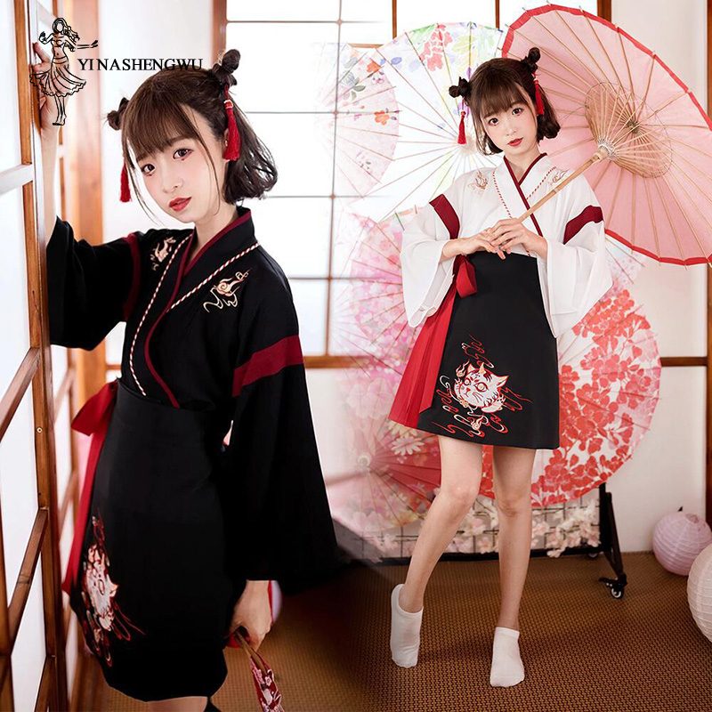 Hanfu Women Daily Improvement Hanfu Chinese Waist Skirt Ancient Style Chinese Costumes Style Han Cat And Clothing Hanfu Mulheres