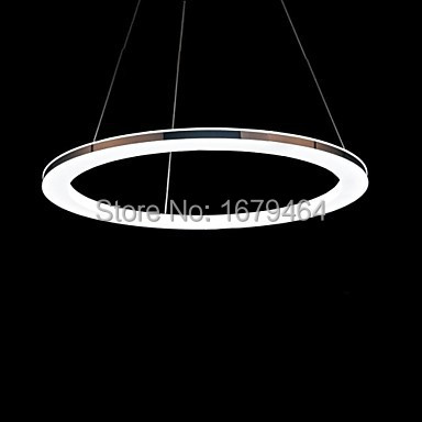 FASH Arylic Pendant,LED ring 1 light, Modern Pendant Lights Stainless Steel Plating Size:20w 110-240v Free shipping ...