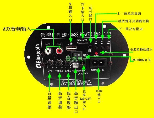 Car car bass gun power amplifier board 220V12V24V sound gun core speaker board 8 inch 10 inch 6 inch bag 1000w high power car stereo subwoofer amplifier board with installation box for 8 12 inch speaker