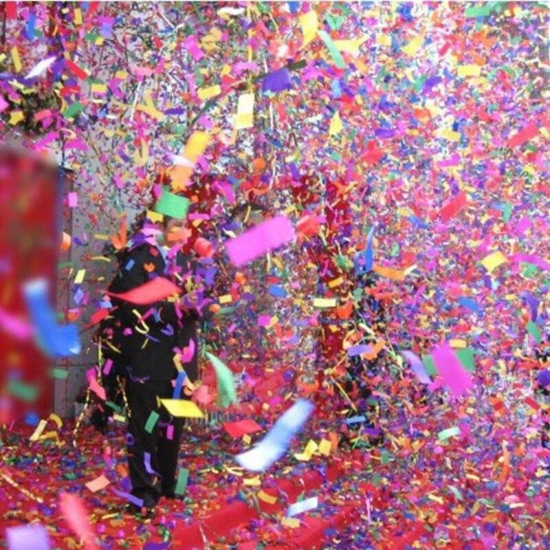 4 PC 40 CM fiesta Popper cañones de confeti de fuegos artificiales de la boda baile Bar Ktv cumpleaños celebración de Año Nuevo de suministros