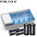 Original palo multi uso de tiempo definido cargador de batería para baterías de nimh nicd aa/aaa/c/d/9 v baterías recargables + 4 unids pilas de tamaño c