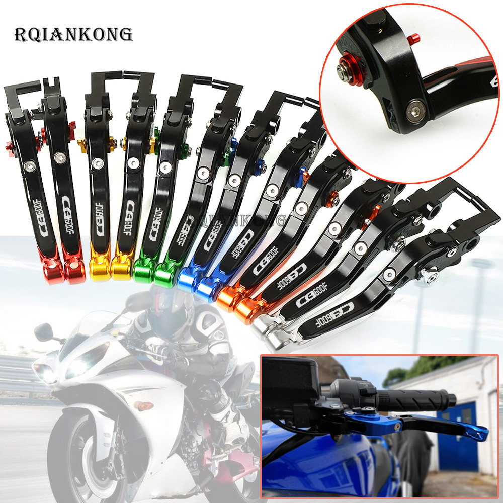 CNC Motorcycle Folding Brake Clutch Levers For Honda CB600F CB <font><b>600</b></font> F <font><b>Hornet</b></font> 2007-2013 <font><b>2008</b></font> 2009 2010 2011 2012 Free shipping image