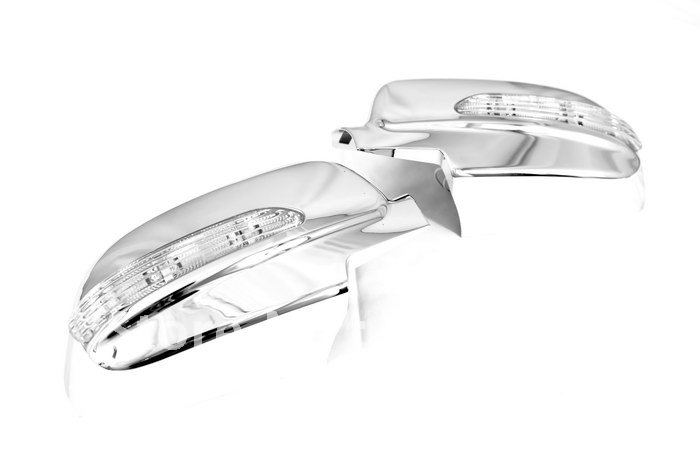 High Quality Chrome Mirror Cover With LED Side Blinker for Chevrolet Lacetti Optra 06 09 free