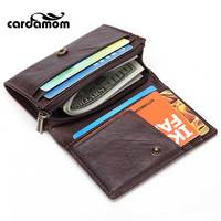 Cardamom Genuine Leather Card Holders 2 Discount Adult Coin Purse Zipper And Hasp Solid Male Wallet