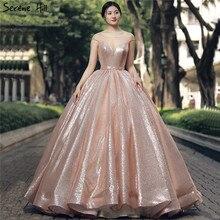 Nowe mody długi Gliter arabski złoty formalne na wieczorny bal Party Ball suknia wieczorowa zaręczyny Abiye suknie suknie Abendkleider 2020
