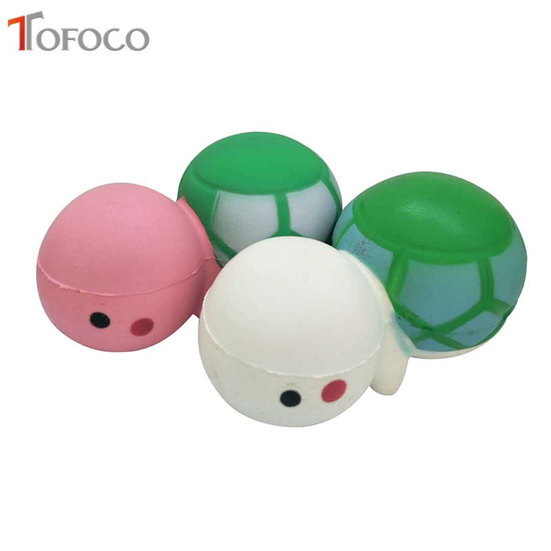 TOFOCO New 13cm Cute Turtle Squishy Jumbo Slow Rising Toys Antistress Soft Decor Kawaii Tortoise Squishies Squeeze Scented Fun