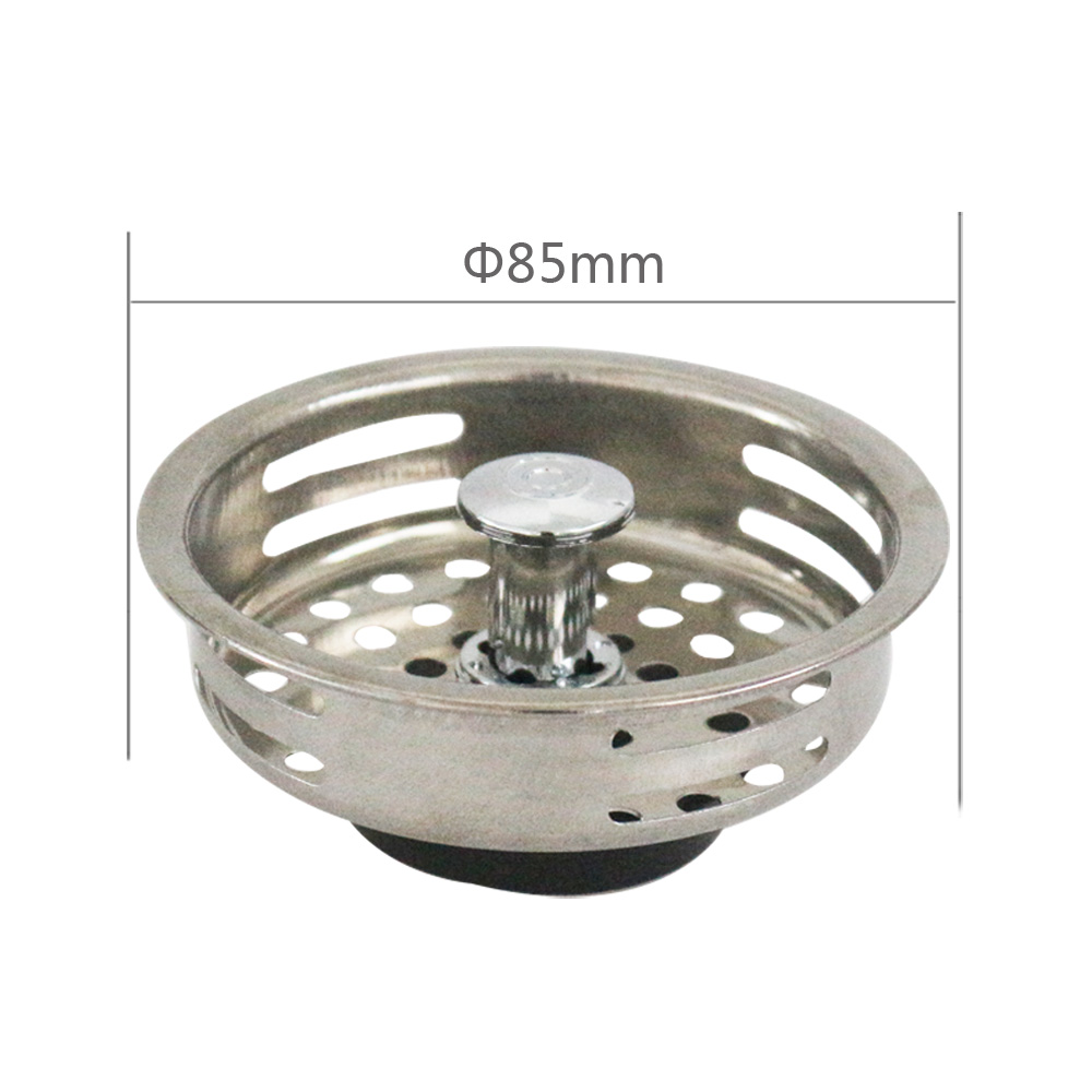 Talea colador del fregadero de acero inoxidable, tapón de drenaje de fregadero de cocina, tapón en forma de cesta doble, colador, tapón de basura