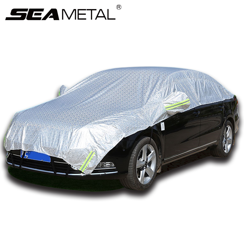 Car Covers Waterproof SUV Auto Sun Proof Shade Reflective Strip Outdoor Dust Rain Protection Universal Summer Cool AccessoriesCar Covers Waterproof SUV Auto Sun Proof Shade Reflective Strip Outdoor Dust Rain Protection Universal Summer Cool Accessories