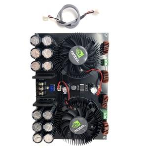 Image 5 - Lusya TDA8954TH çift çekirdekli dijital ses güç amplifikatörü kurulu 420W * 2 stereo amplifikatör için fan ile 2 8ohm hoparlör B5 002