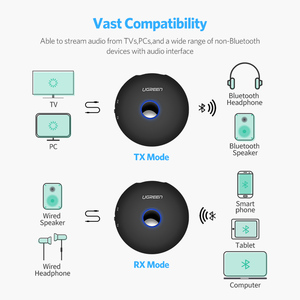 Image 2 - Ugreen Bluetooth Receptor transmisor aptx le Adaptador de Audio jack de 3,5mm PC Receptor AUX Bluetooth 4,2 de 3,5mm
