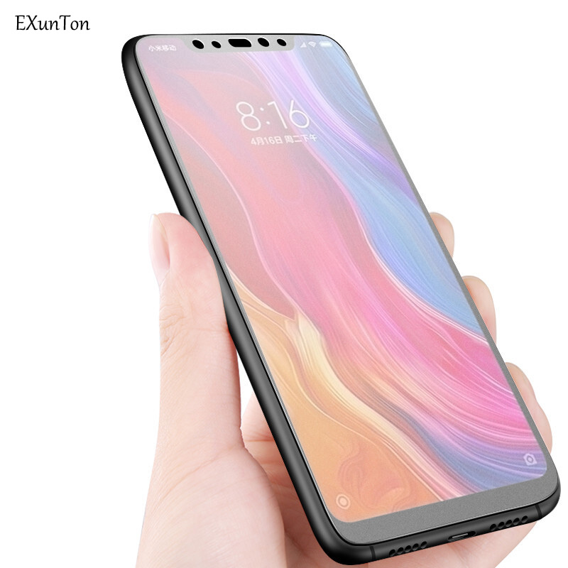 Tempered Glass Matte Tempered Glass For Xiaomi Mi Max Mix Note 2 2S 3 8 SE 6 6X A2 5X A1 Mi5 4 Screen Protector Anti Fingerprint