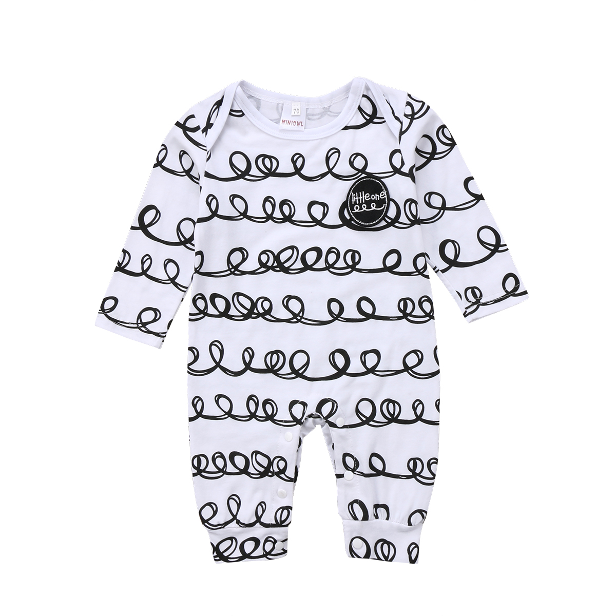 2018 Newborn Infant Baby Girls Boy Cute Long Sleeves Romper Casual Jumpsuit Clothes Outfit Set