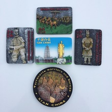 (5 pieces a lot)China 's terracotta warriors and horses handicrafts souvenirs resin refrigerator цена
