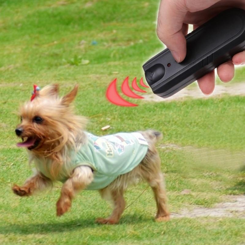 Let s Pet LED Ultrasonic Dog Repeller Animal Training Device Trainer Pet Anti Barking Stop Banish Maching Collier Anti